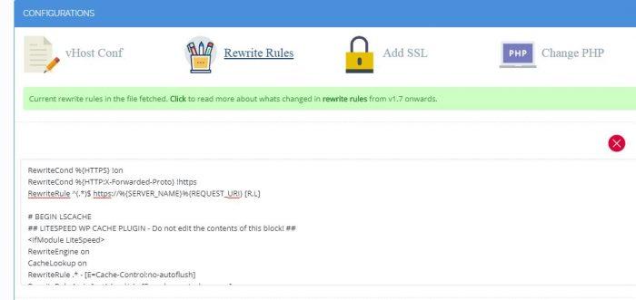 CyberPanel Rewrite Rules File