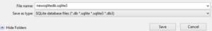 SQLite Browser Import 1